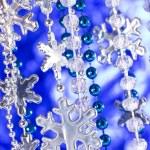 Silver snowflakes background — Stock Photo #34650395