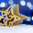 Golden Christmas stars — Stock Photo