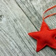 Red Christmas star — Stock Photo