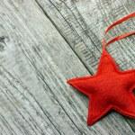Red Christmas star — Stock Photo #35044367