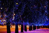 Christmas street light — Stock Photo