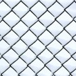 Chain link fence with snow — Stock Photo
