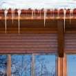 图库照片: Icicles on roof