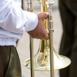 Musician of a military band — Stock Photo