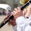 Clarinet player in army band — Stock Photo #40475893