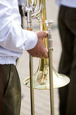 Musician of a military band — 图库照片