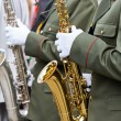 Saxophone players in a military band — Stock Photo #40553523