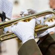 Marching band trumpets — Stock Photo #40554389
