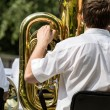 Musiciplaying tuba — Stock Photo #41015217