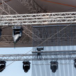 Concert spotlights on outdoor stage — Stock Photo