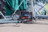 Concert electric equipment — Stock Photo