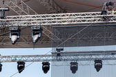 Concert spotlights on outdoor stage — Стоковое фото