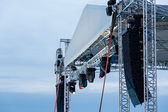 Stage spotlight with loudspeakers — Stock Photo