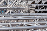 Truss backstage structure — Stock Photo