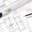 Construction blueprint — Stock Photo