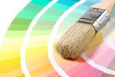 Kartáč na Průvodce barvami — Stock fotografie