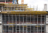 Scaffold for construction works — 图库照片