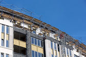 Scaffolding on building site — Stock fotografie