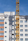 Apartment building under construction — Stockfoto