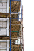 Scaffolding on a building wall — Stok fotoğraf