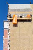Builder worker plastering facade — Foto de Stock