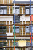 Building facade with thermal insulation — Stock Photo