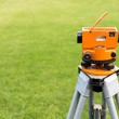 Optical level on tripod — Stock Photo #48791455