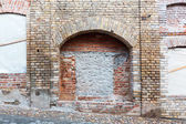 Niche on brickwall — Stock Photo