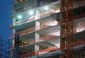 Construção, cena noturna — Foto Stock