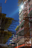 Construction site at night — Stock Photo