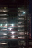 Industrial construction at night — Stockfoto