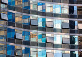 Building facade with reflections — Stock Photo