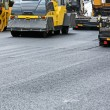 Постер, плакат: Asphalt paving works