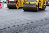 Yellow road rollers — Foto de Stock