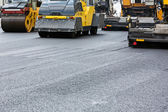 Asphalt paving works — 图库照片