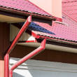 Постер, плакат: Rain gutter for collects rainwater