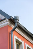 Rain gutters on a home — Stock Photo