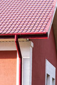 House with gutter system — Stock Photo