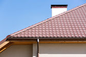 Rooftop with a rainwater drain — Stock Photo