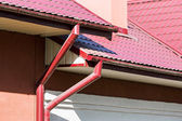 Rain gutter for collects rainwater — Stock Photo