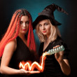 Two witches — Stock Photo
