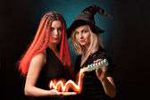 Two witches — Stockfoto