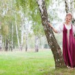 Woman in Russian traditional costume — Stock Photo