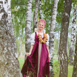 Frau in russischer Tracht — Stockfoto #17705989