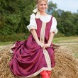 Foto de Stock  : Womin Russitraditional costume