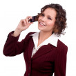 Business woman talking on a mobile phone — Stock Photo #5474707