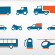 Icons set vehicles — Stock Vector #12880917