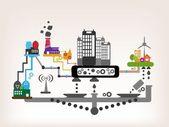 City Information Graphics — Stock Vector