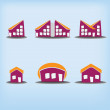 Set of 6 houses icons variations — Stock Vector #13175978