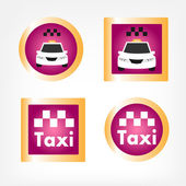 Set of various taxi icons — Stock Vector